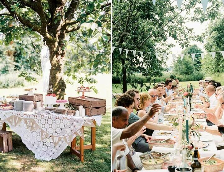 De bohemian bruiloft van Corné en Ilse