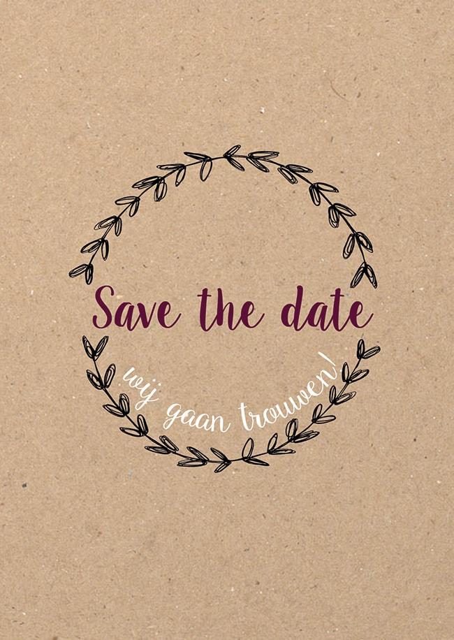 Save the date kaartje