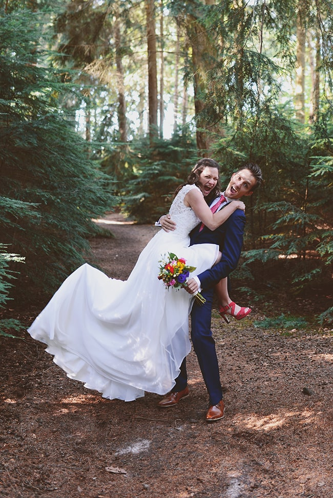 Goed op iedere trouwfoto
