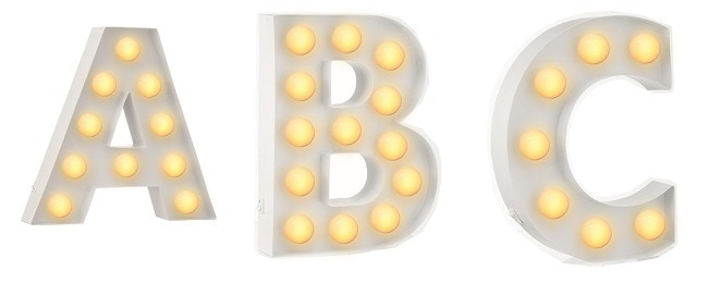 Letterverlichting marquee lights 2