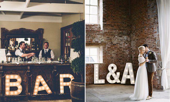 Goedkope letter-verlichting voor je bruiloft