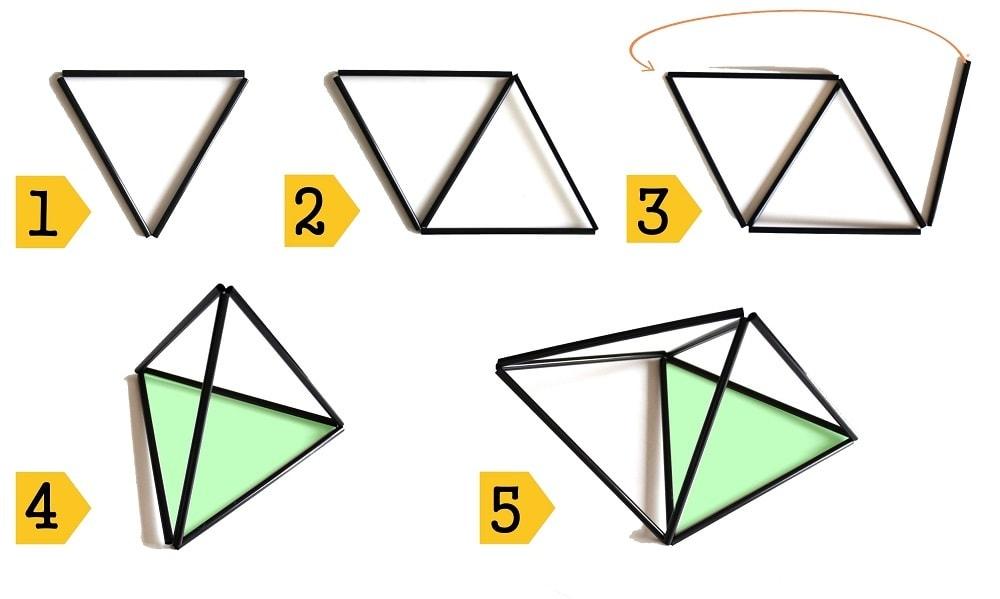 stappen diamant 3x3