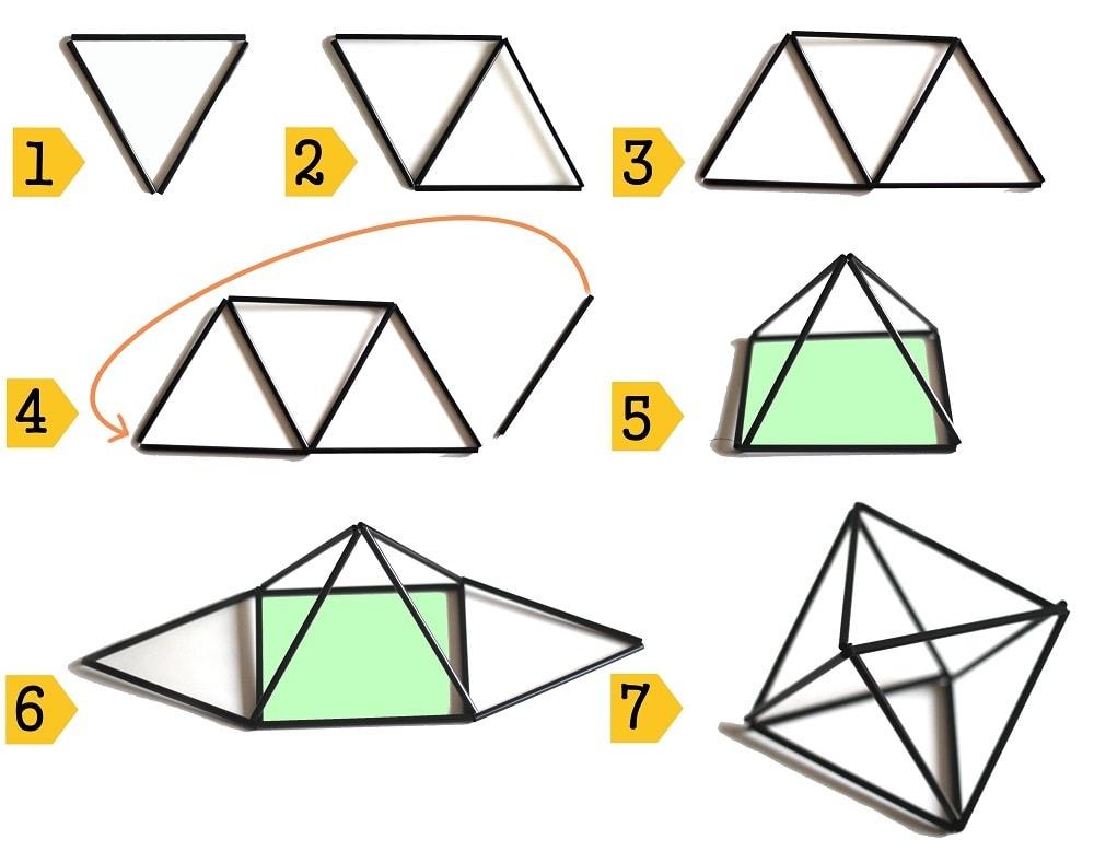 stappenplan diamant 4x3 himmeli