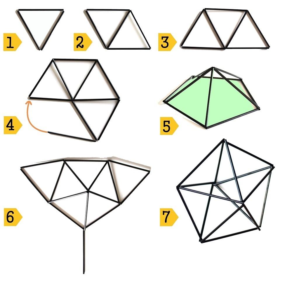 stappenplan diamant 5x3 himmeli