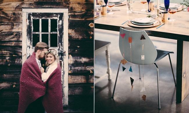 Als je deze bruiloft hebt gezien, wil je spontaan in de winter trouwen