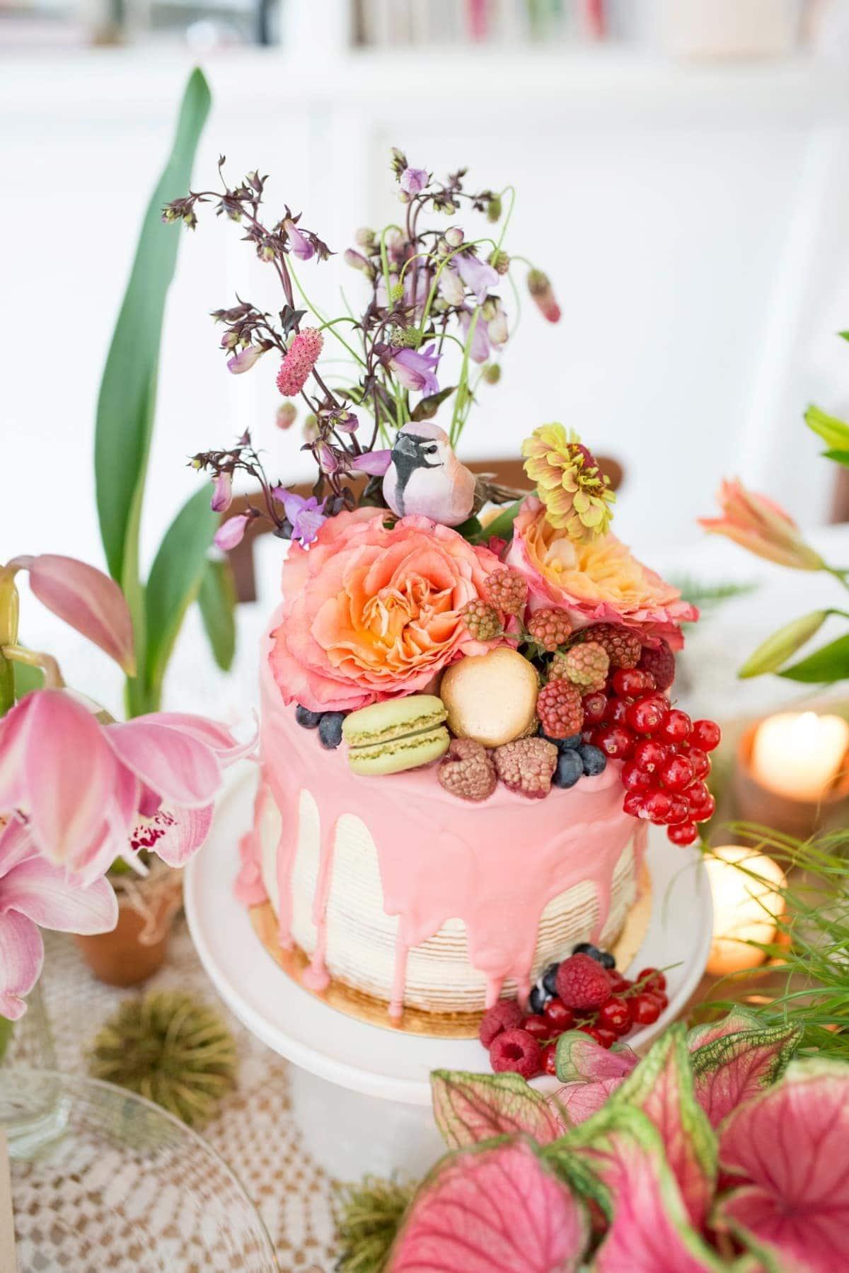 Blik en Bloos Fotografie - taart 3 - taart door Le Beau Gateau en bloemen door don florito