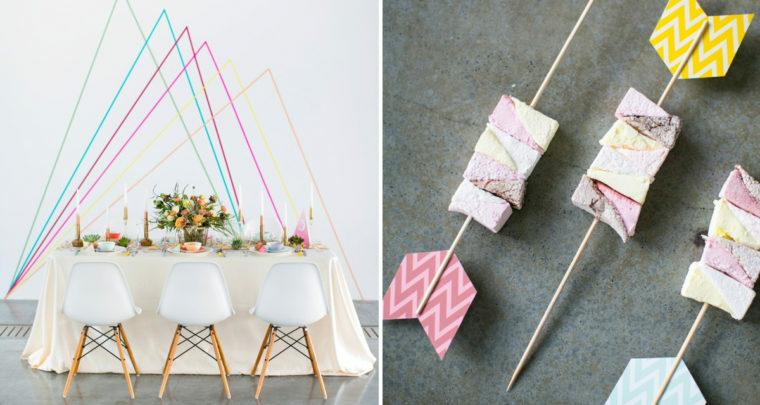 Zo kun je op een goedkope manier je bruiloft opfleuren met washi-tape!