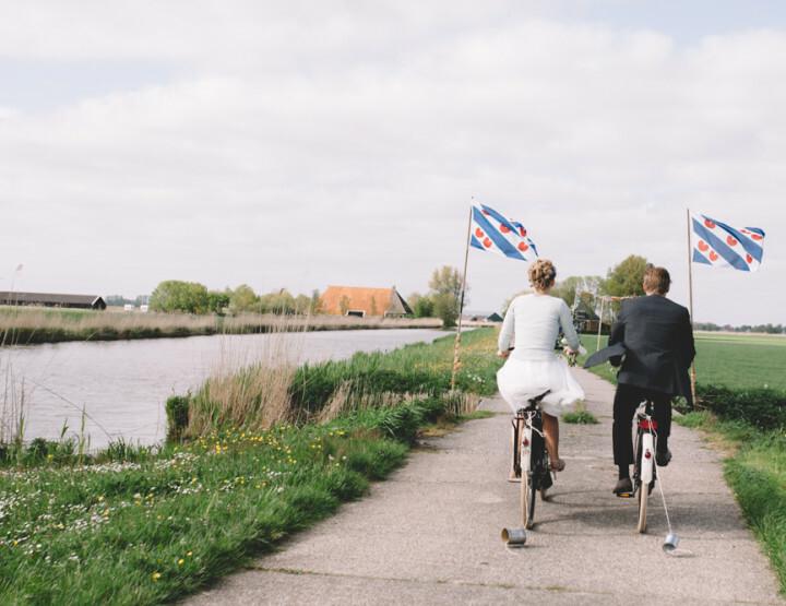 De op en top Friese bruiloft van Hieke en Sytse
