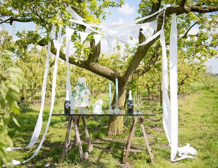 Styled shoot: trouwen in een boomgaard