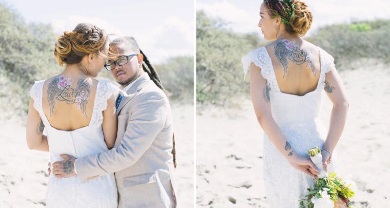 Styled shoot: trouwen op het strand (met bridalpaint!)