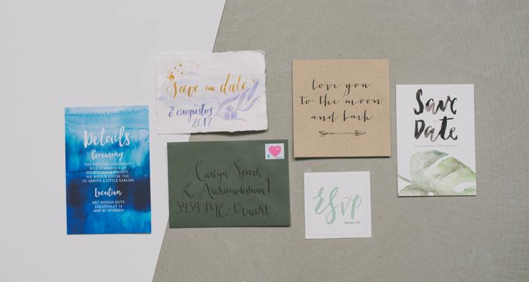 5 keer inspiratie voor jullie trouwkaarten