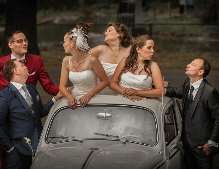 After wedding fotoshoot; nog 1 keer in je trouwjurk!