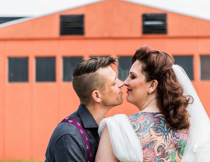 De rock'n'roll bruiloft van Wendy en Martin