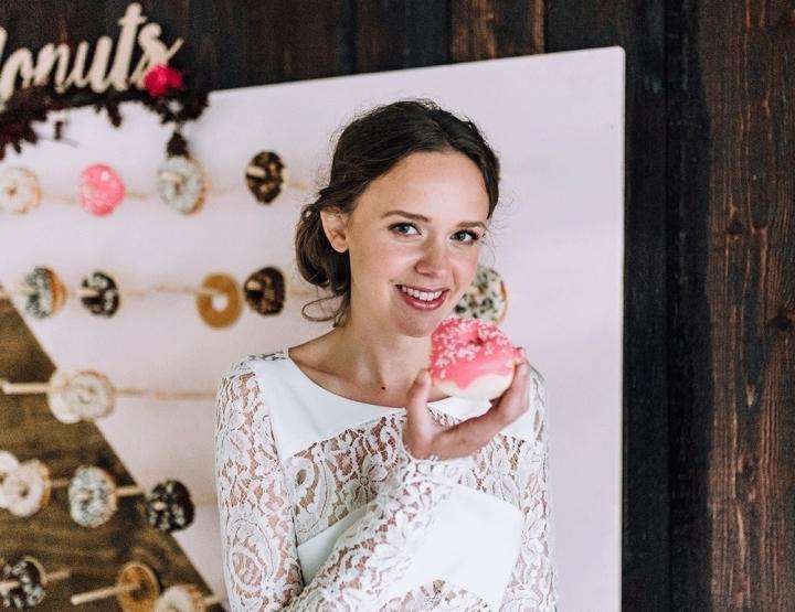Wij willen een donut-muur op onze bruiloft!