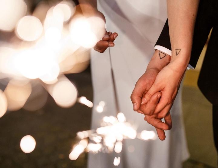 De klassieke en elegante bruiloft met een kleine twist van Rob en Lauren