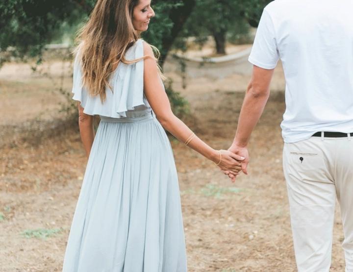 Een prachtige loveshoot in een romantische wijngaard