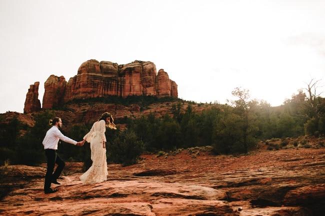 Styled shoot: Een avontuurlijke bruiloft in Arizona