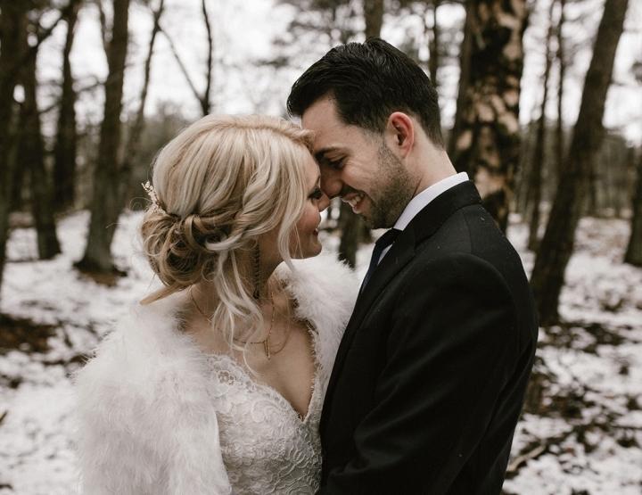 Styled shoot: een sprookjesachtige bruiloft in de sneeuw