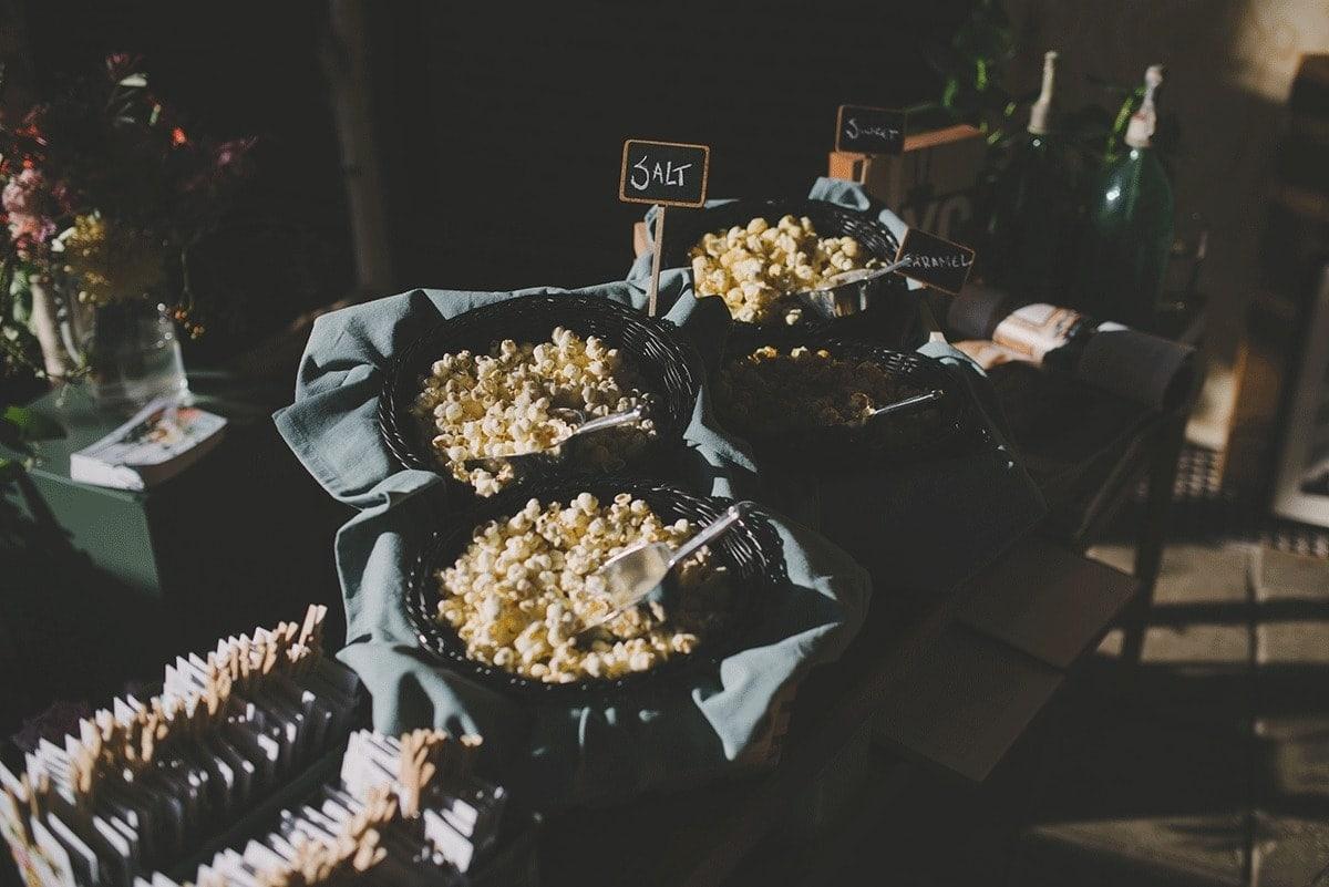 popcorn scheppen op je bruiloft