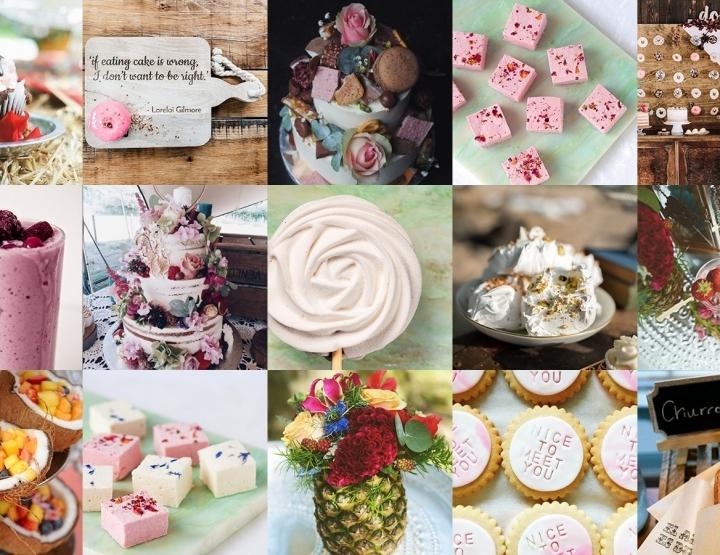Zoete inspiratie voor je bruiloft; dé dag dat je alles mag eten wat je lekker vindt.