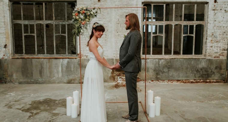 Industriële trouwlocaties: voor stoere bruiden