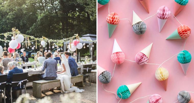 Originele honeycombs ideeën voor je bruiloft