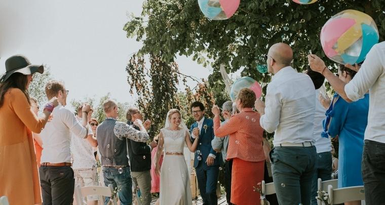 Deze bruiloft had als thema 'Strand bal', echt waar!