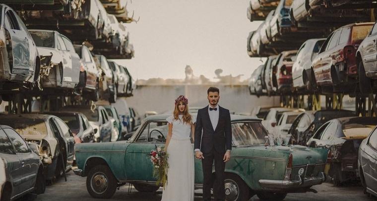 Originele fotoshoot locaties voor bruidsparen met lef!