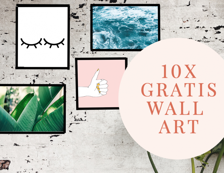 10 x gratis wall art voor in je huis (nu de kerstversiering weg is)