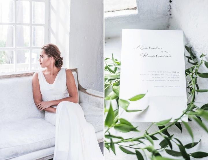 Inspiratie: een minimalistische bruiloft, zo mooi kan dat zijn!