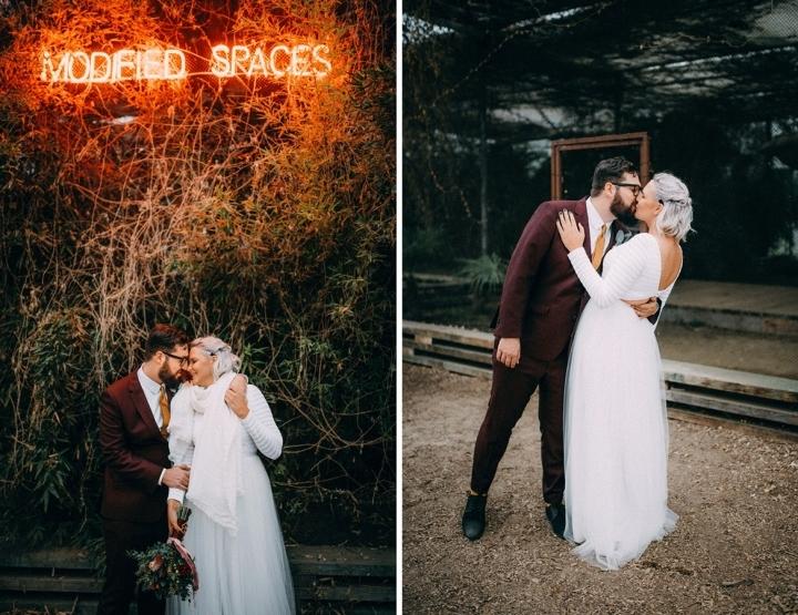 In de winter trouwen met een industriële trouwlocatie