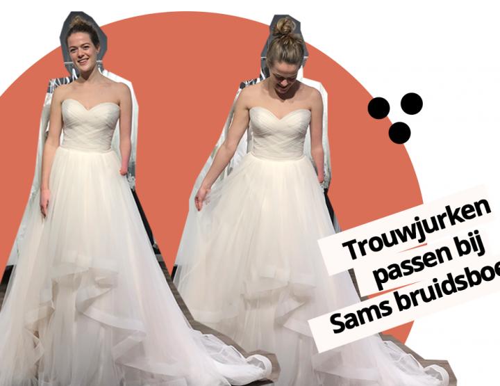 VIDEO: Nieuwe trouwjurken passen bij Sam's Bruidsboetiek