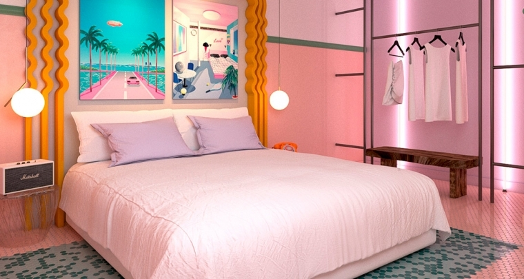 Ik wil een vrijgezellen-weekend in dit roze hotel op Ibiza!!