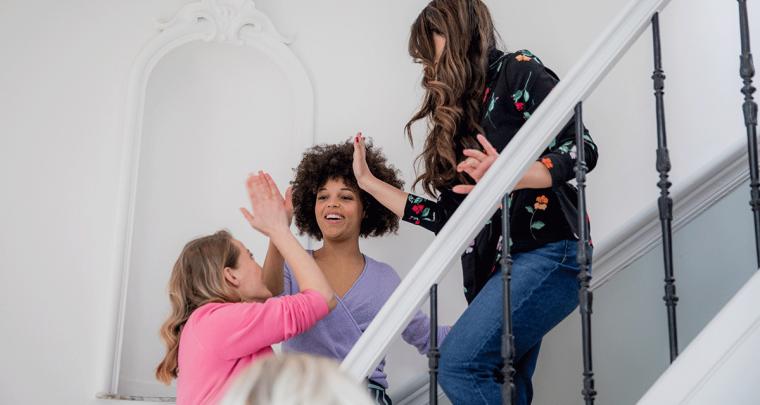 Personal: fotoshoot in lavendel pak met WE Fashion en Hashtag Workmode