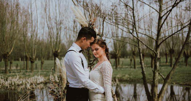 Inspiratie voor een bohemian bruiloft in de natuur