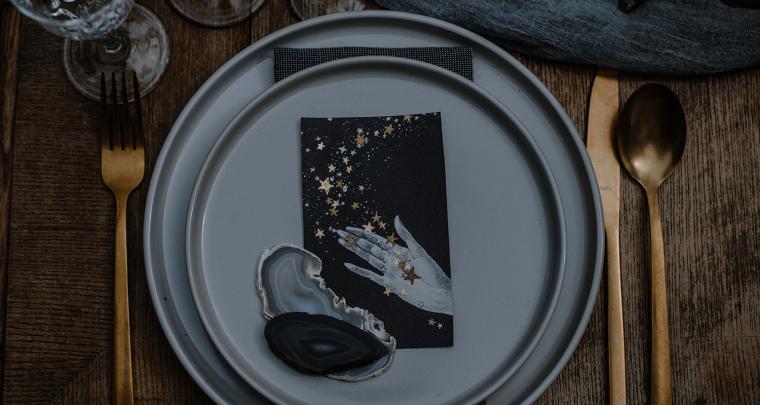 Een celestial bruiloft thema; inspiratie uit de sterren