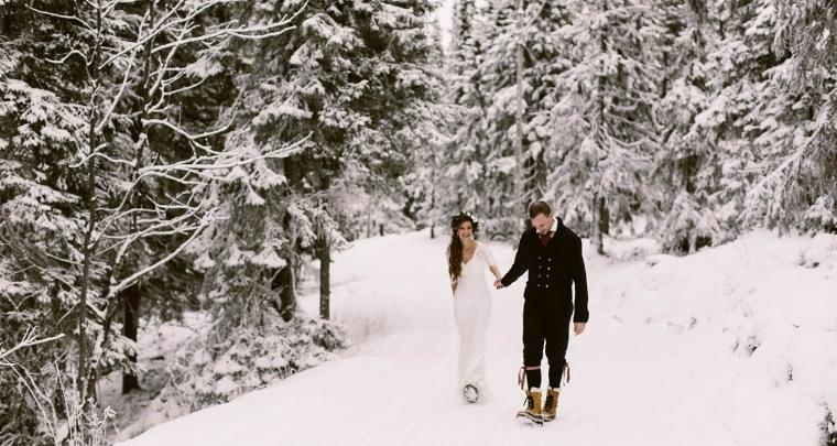 Een bruiloft in de sneeuw in Zweden!