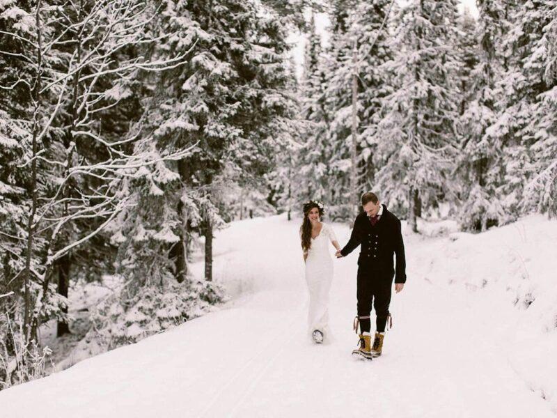bruiloft plannen buitenland zweden inspiratie winterbruiloft