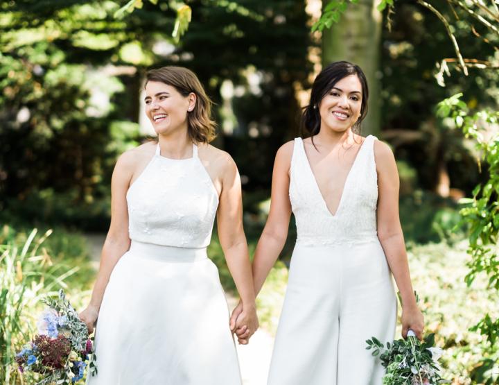 Real Wedding: Botanische bruiloft met boottocht en feestje aan het water
