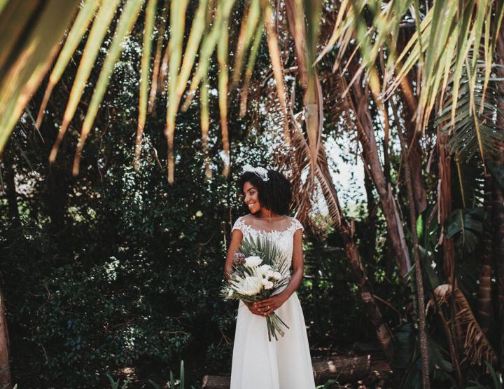 Botanische bruiloft inspiratie voor een bruiloft in Kaapstad