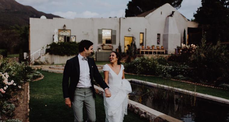 Bruiloft inspiratie: Een romantische en intieme bruiloft in Kaapstad
