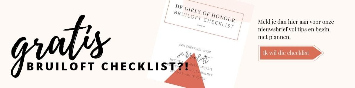 Gratis bruiloft checklist