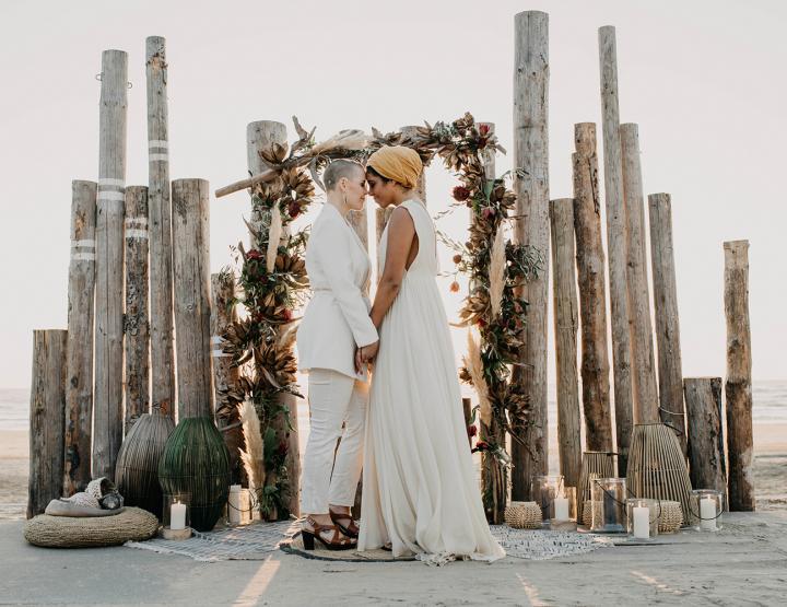 Bruiloft inspiratie: trouwen op het strand in safari stijl!