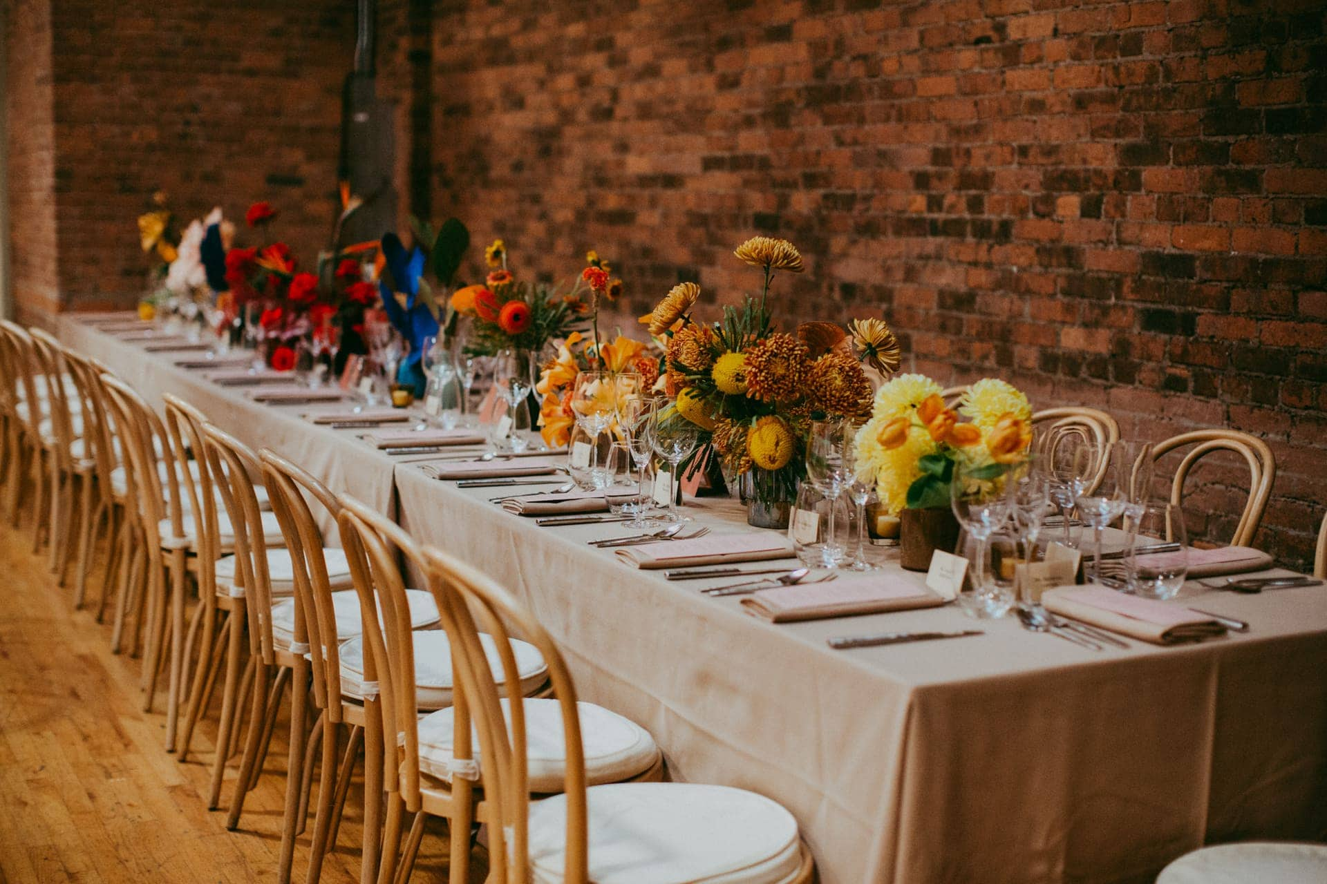 minimalistische bruiloft