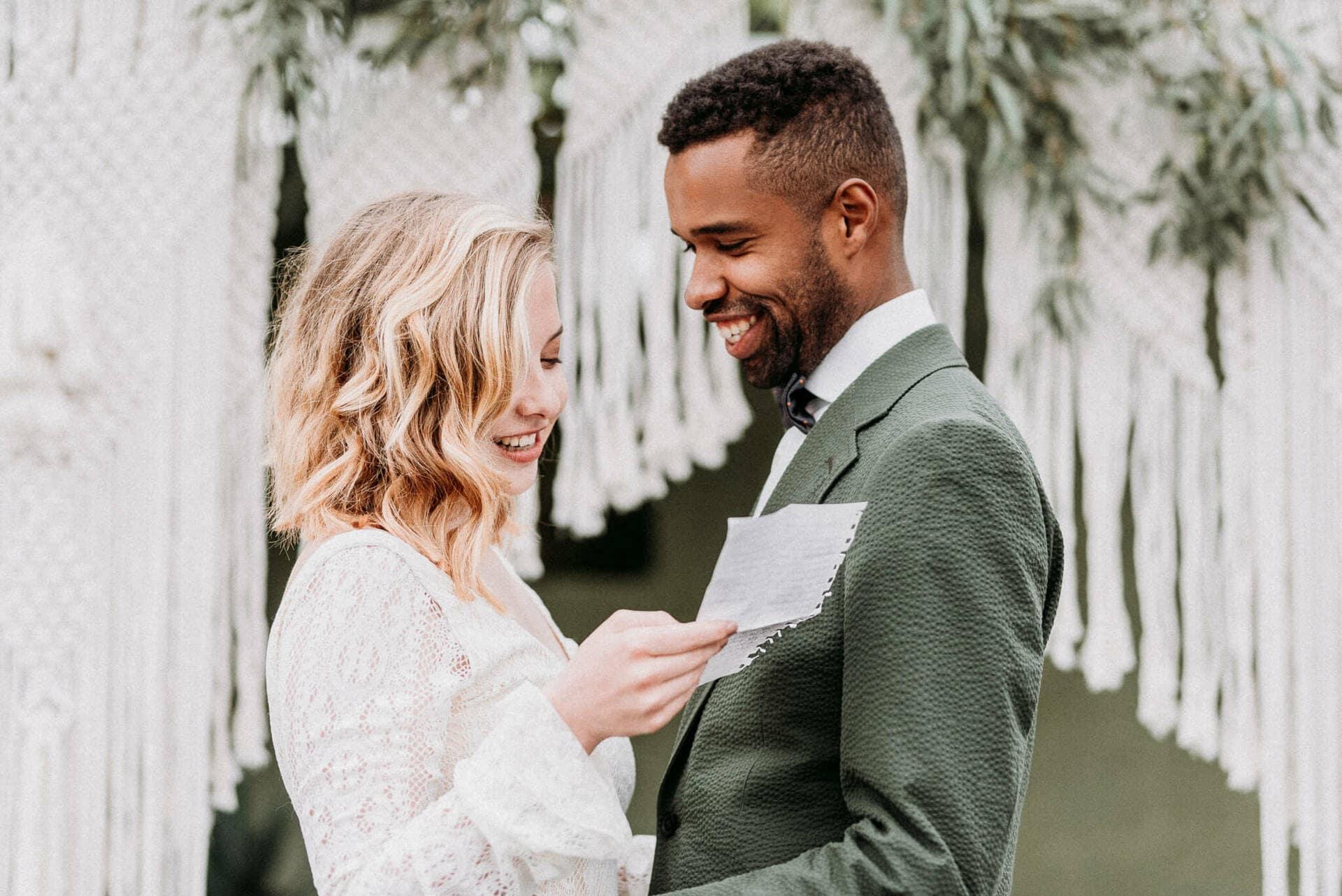 Relaxte bruiloft oosterse sferen