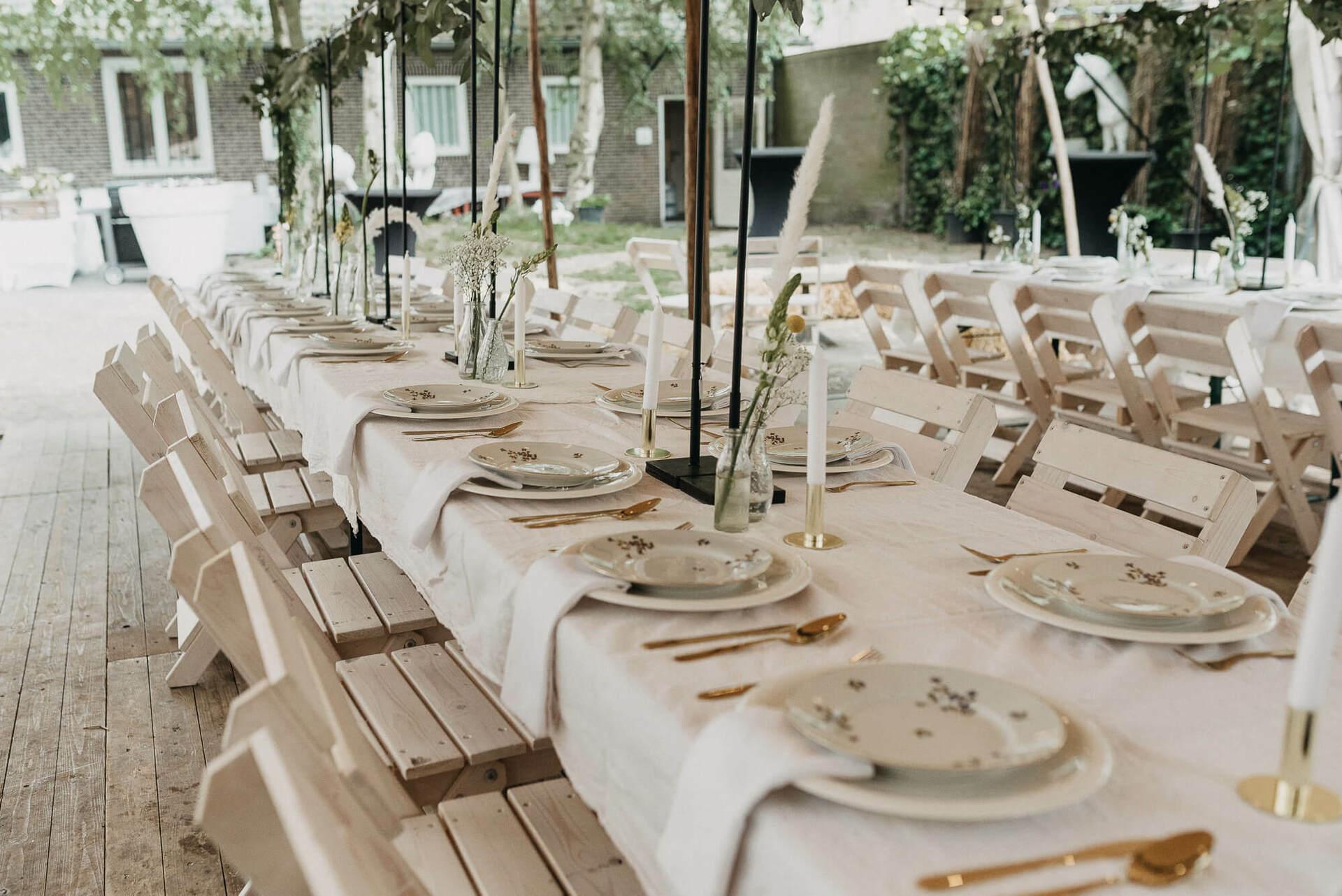 bruiloft tafel styling