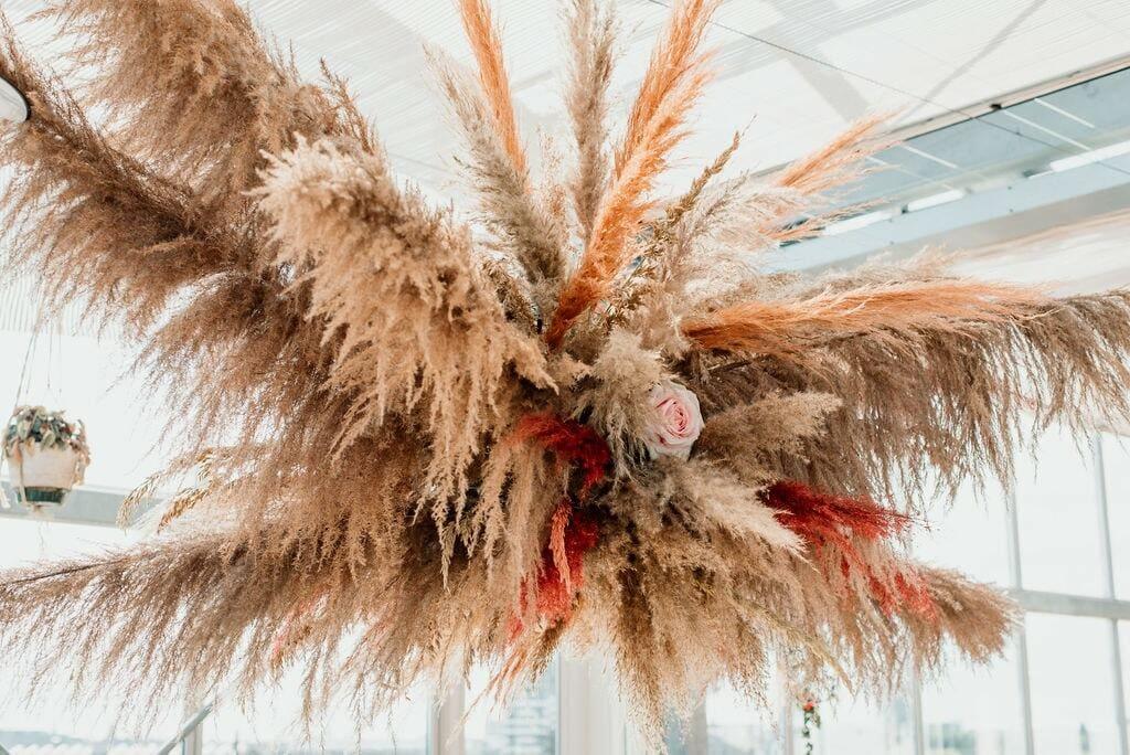 moderne bohemian trouwjurk