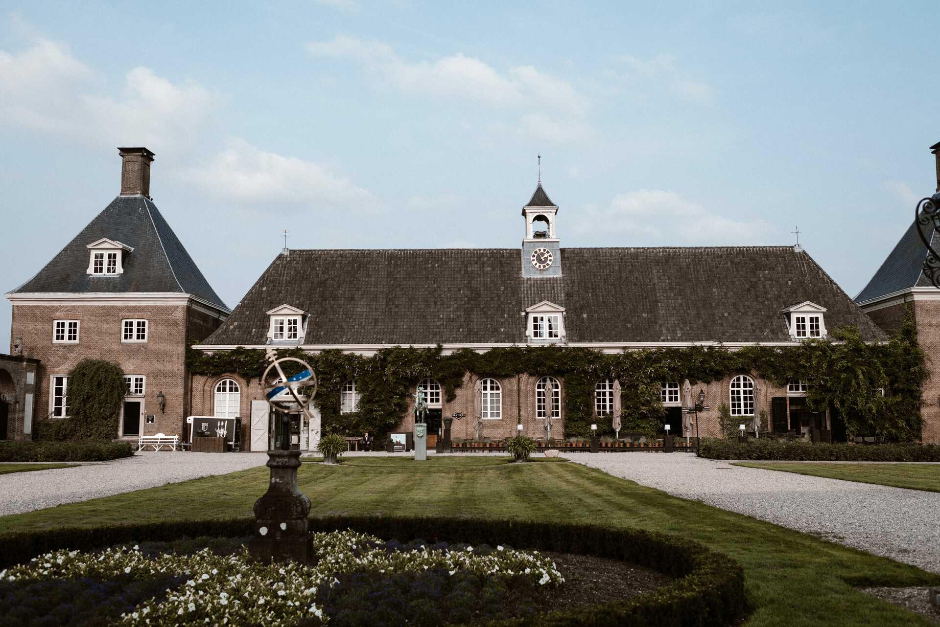 bruiloft in een kasteel