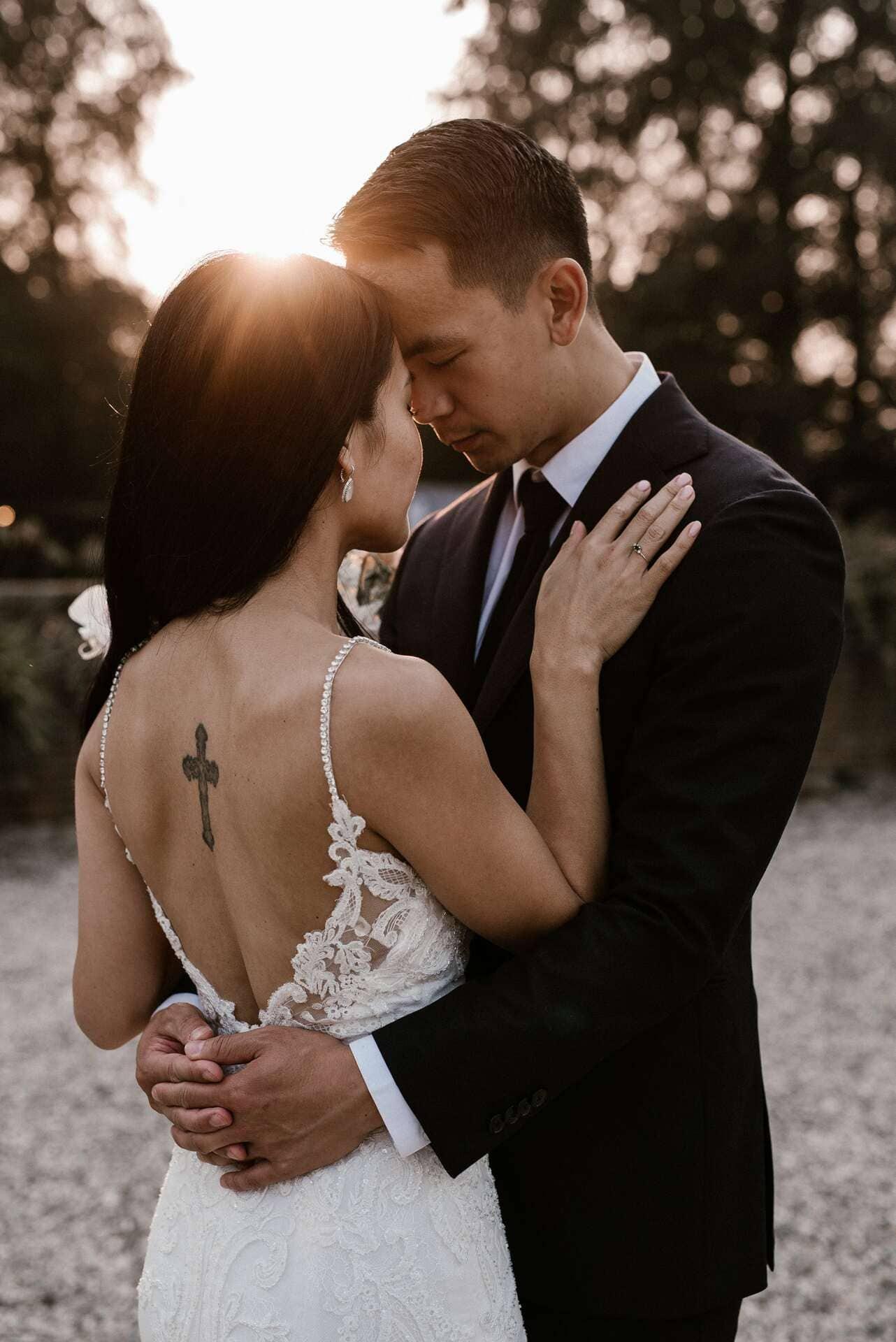 bruiloft op een landgoed