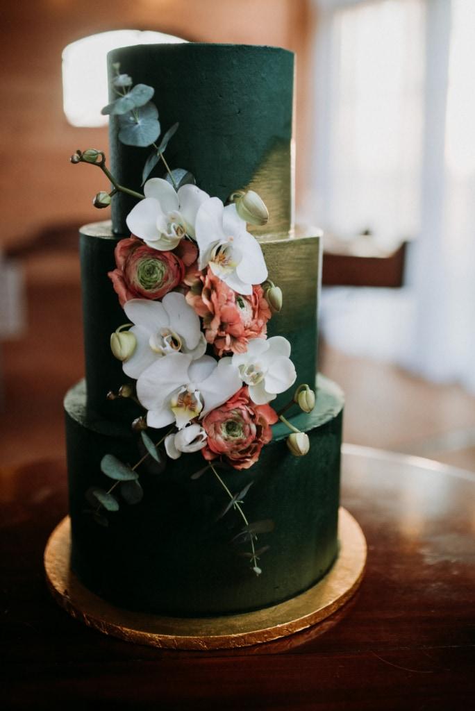 bruiloft met groen thema
